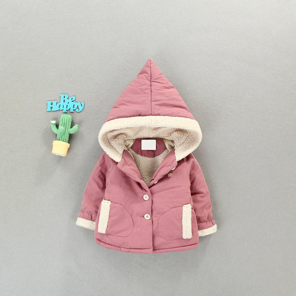 Pink Double Pocket Winter Jacket