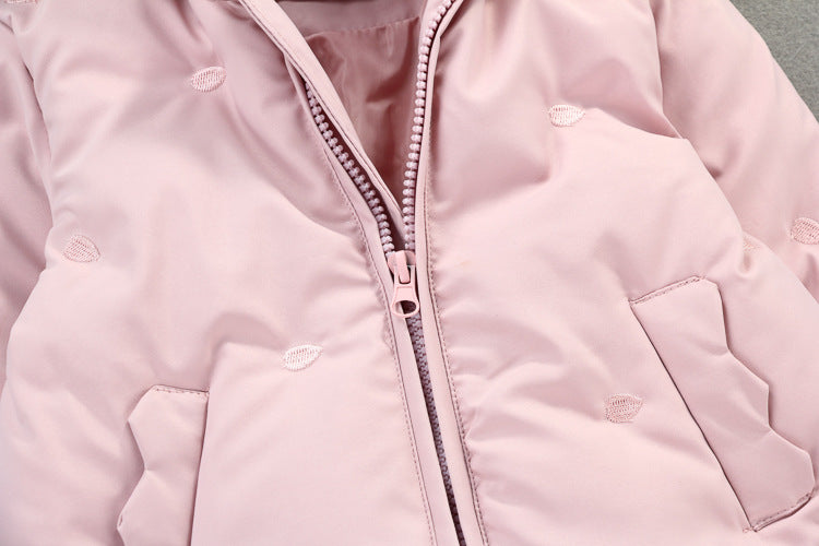 Bow Hooded Winter Padded Jacket