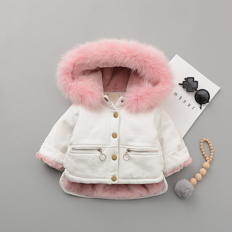 Zipper Pockets Fur Winter Jacket