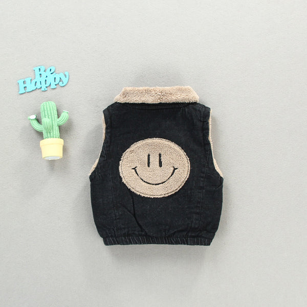 Smiley Fleece Winter Jacket