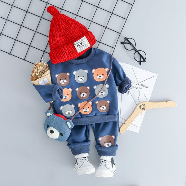 Bear Printed Winter Set