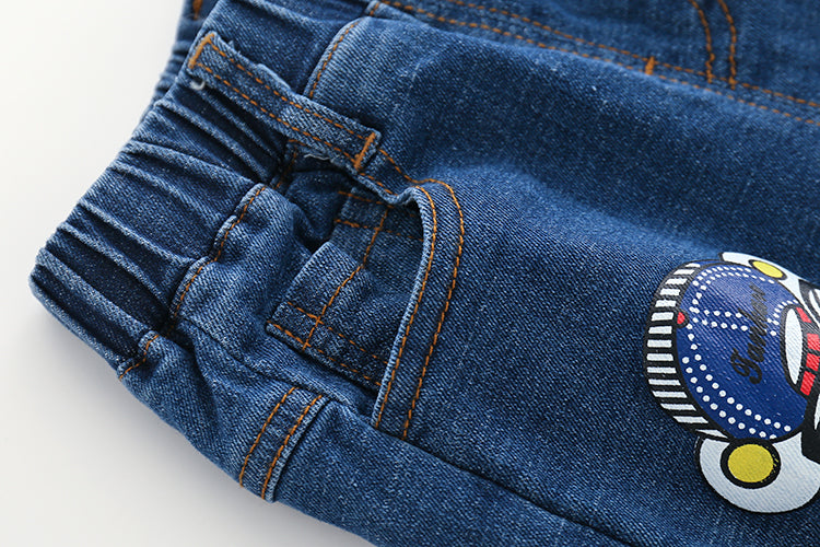 Denim With Cartoon Patches