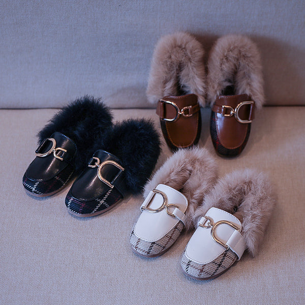 Fur Loafers For Girls