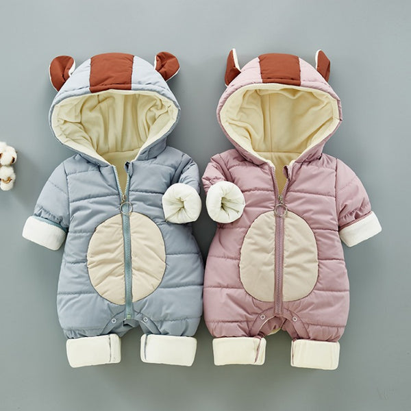 Devil Hooded Winter Jumpsuit