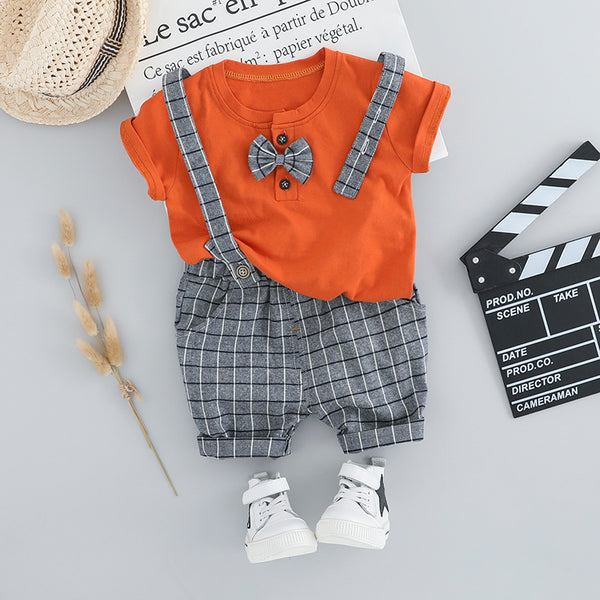 Dungaree with Bow Summer Set