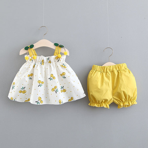 Cherry Strap Summer Set