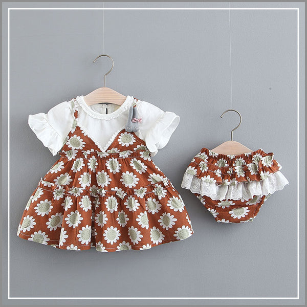 Sunflower Printed Bloomer Set
