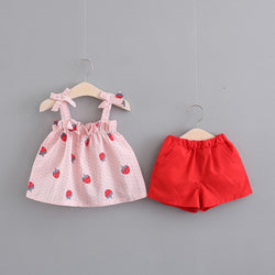 Bow Strap Strawberry Summer Set