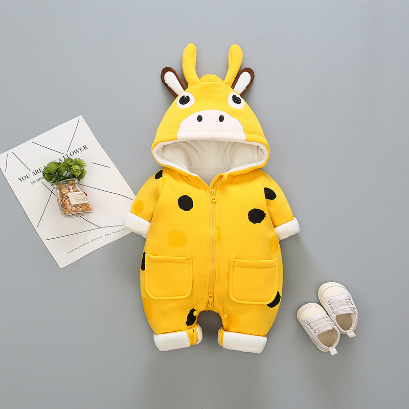 Moo Cow Made Hooded Winter Jumpsuit