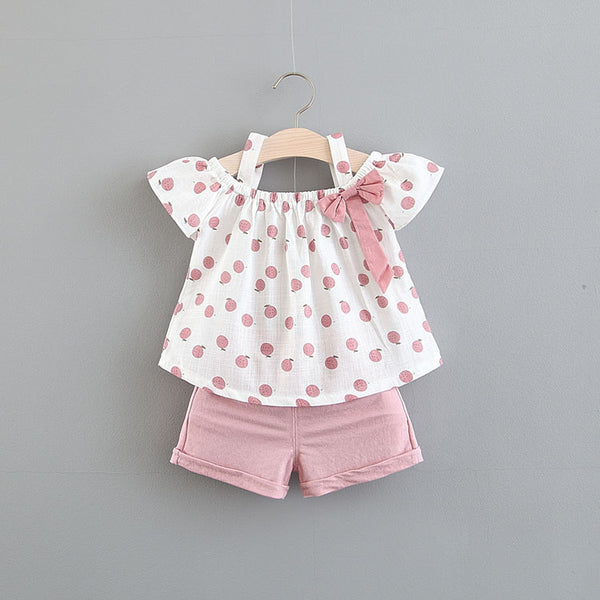 Peach Printed Summer Set