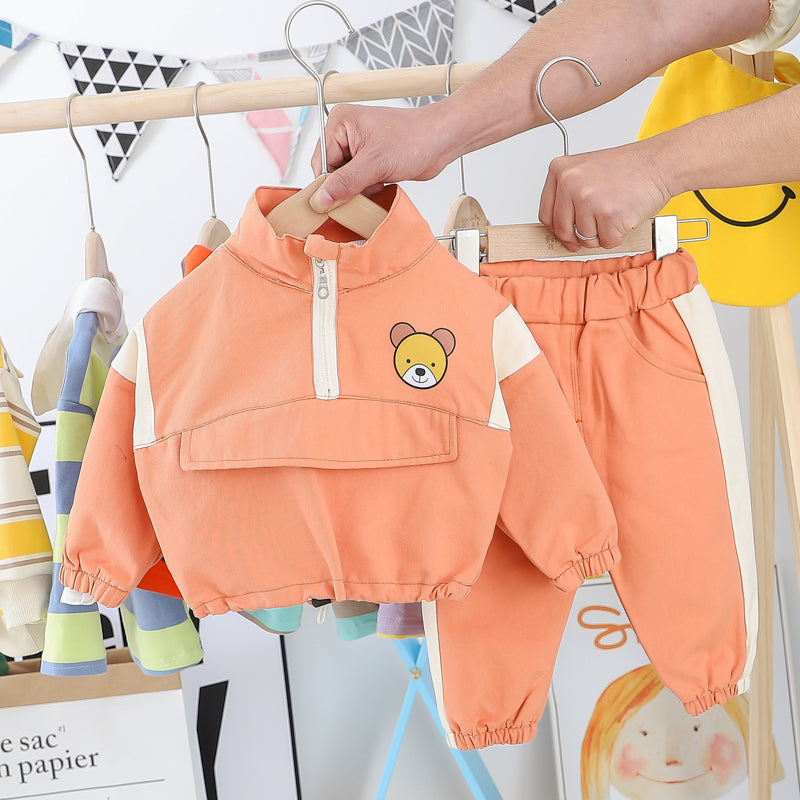 Bear Back Sweatshirt And Pant Set