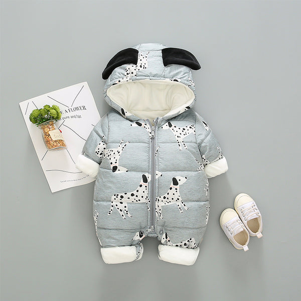 Dog Printed Winter Jumpsuit
