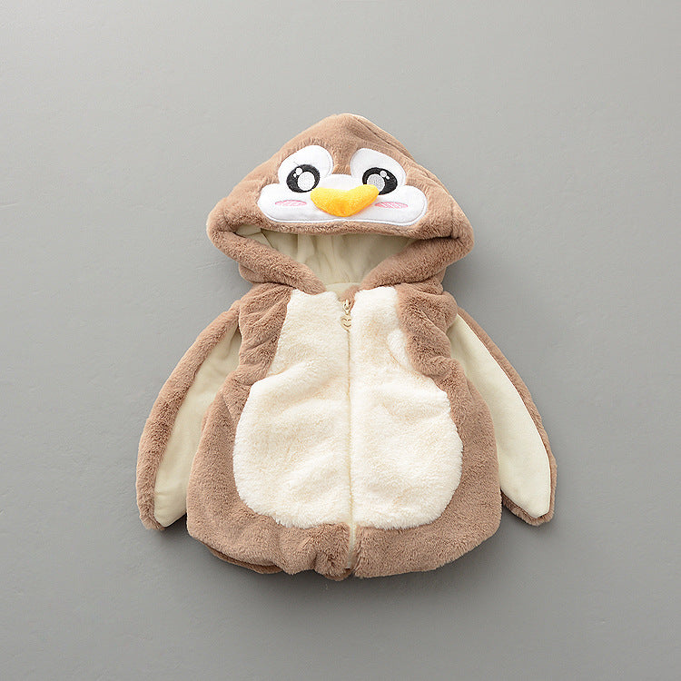 Penguin Jacket With Cloak Sleeves