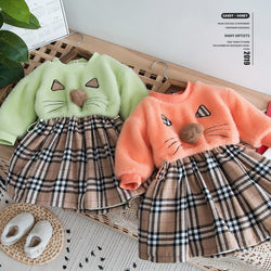 Cat Made Pullover Skirt Winter Dress