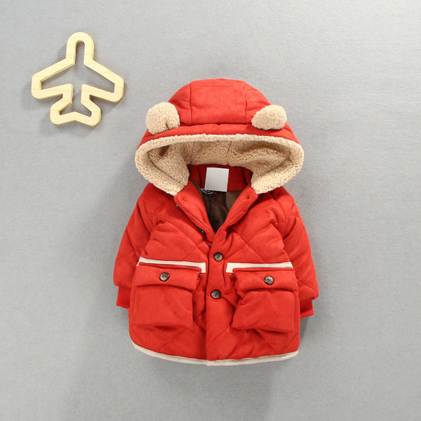 Double Pocket Hooded Padded Jacket