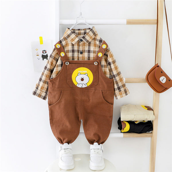 Teddy Bear Dungaree Set