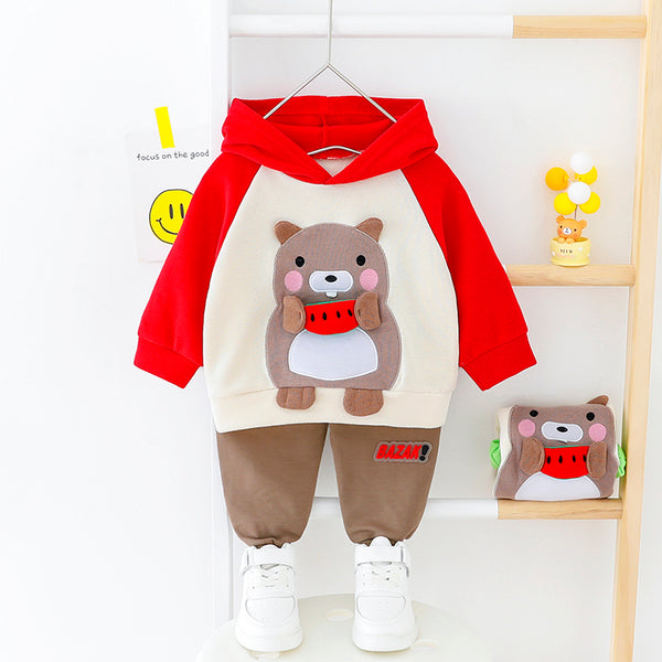Teddy Bear Made Hooded Set