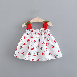 Cherry Printed Summer Dress