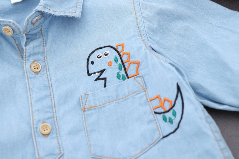 Dinosaur Made Denim Shirt