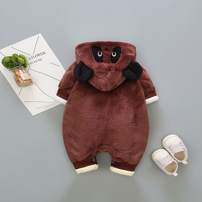Panda Hooded Winter Jumpsuit
