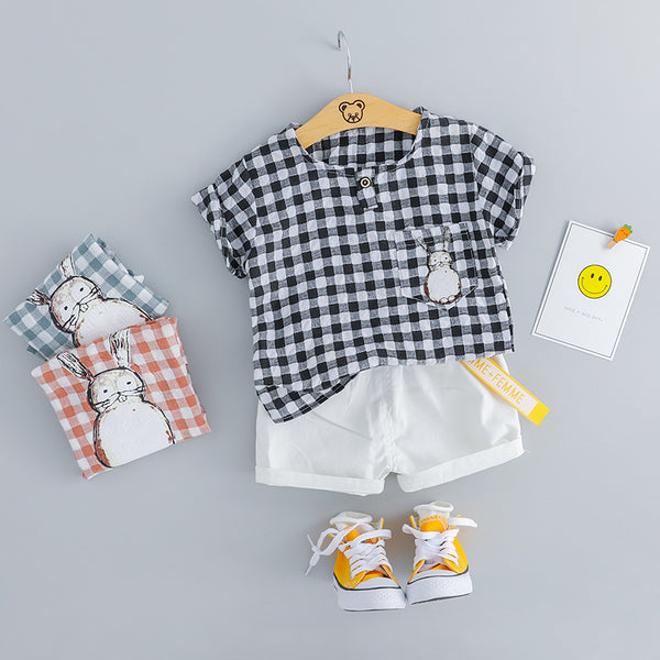 Plaided Rabbit Summer Set