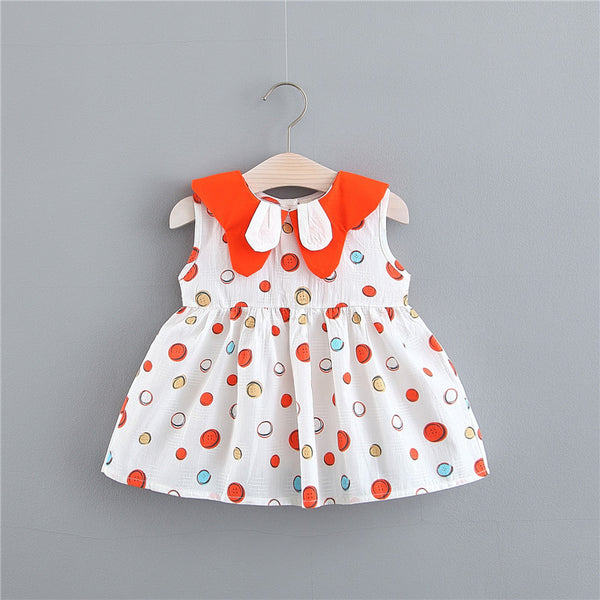 Rabbit Collar Printed Summer Dress