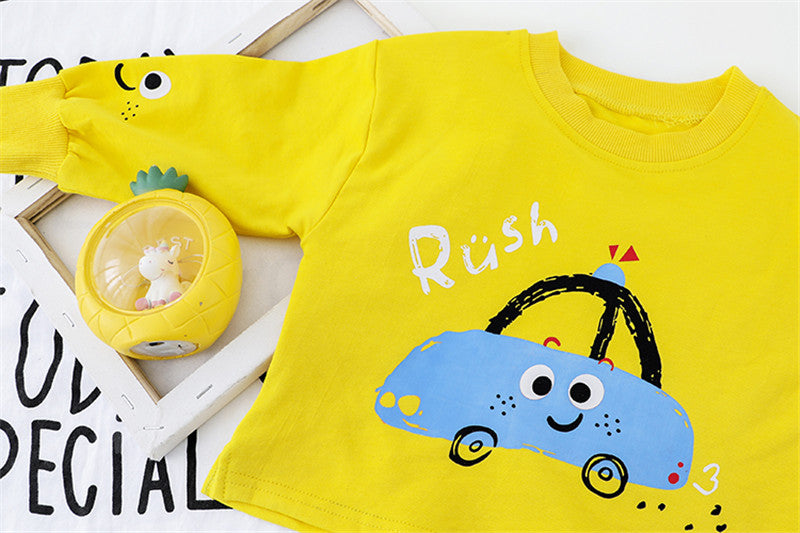 Car Printed Baby Set