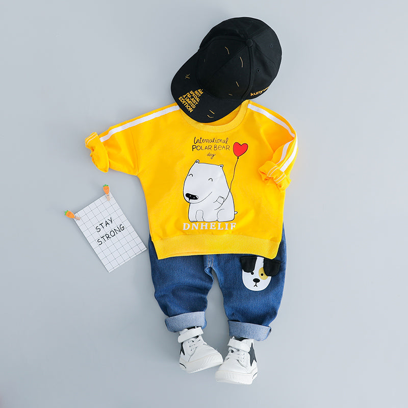 Polar Bear Sweatshirt Baby Set