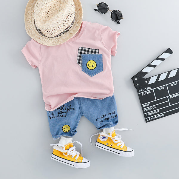 Denim Patch Summer Set