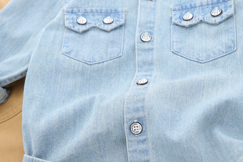 Double Pocket Vintage Denim Shirt