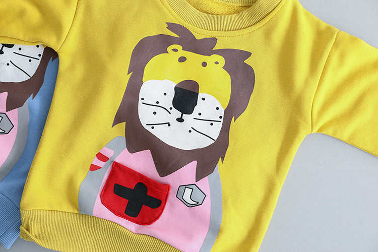 Lion Printed Sweatshirt Baby Set