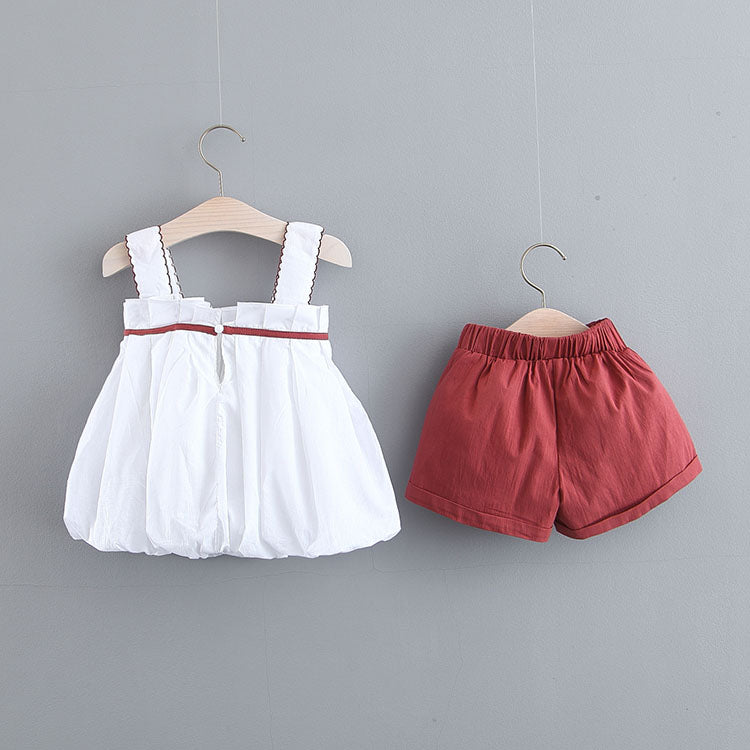 Pleated Top And Shorts Set