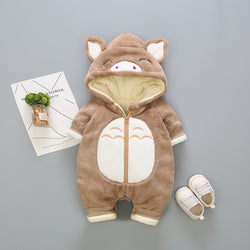 Piglet Made Hooded Winter Jumpsuit