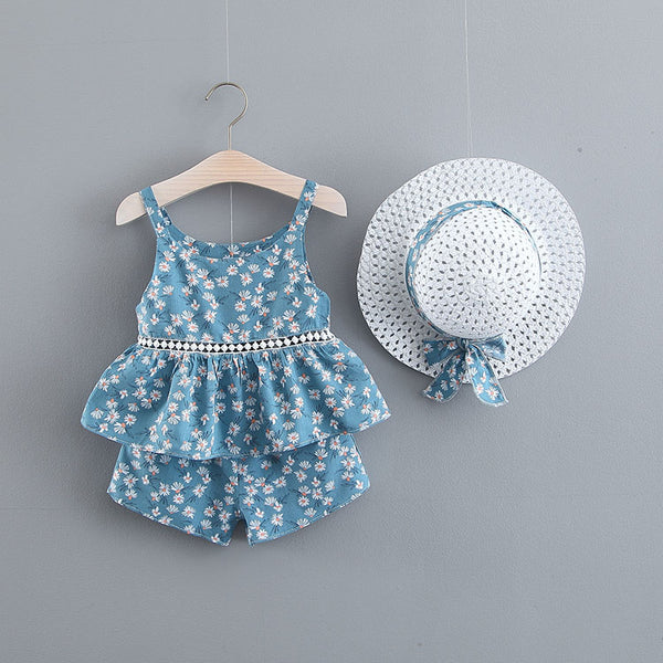 Printed Summer Sets With Hat