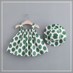 Polka Dotted Summer Dress With Hat