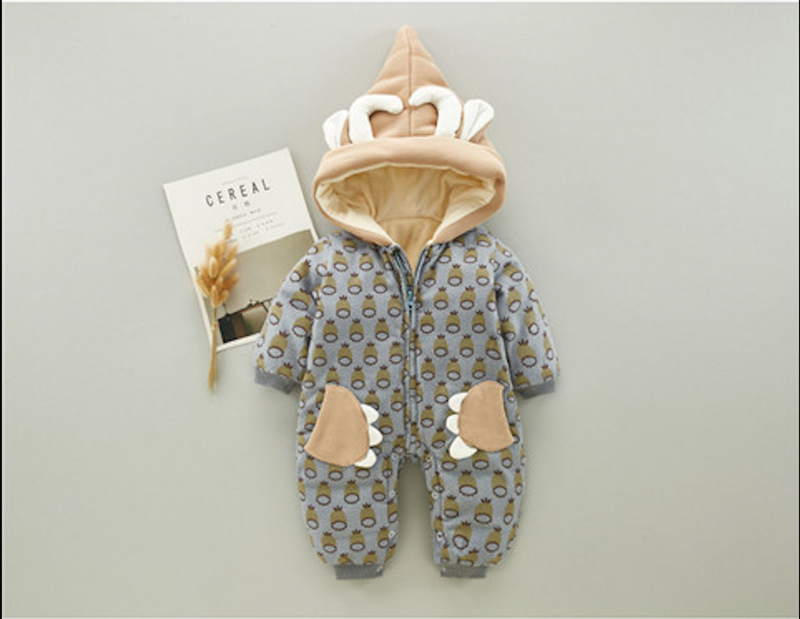 Pineapple Printed Winter Jumpsuit