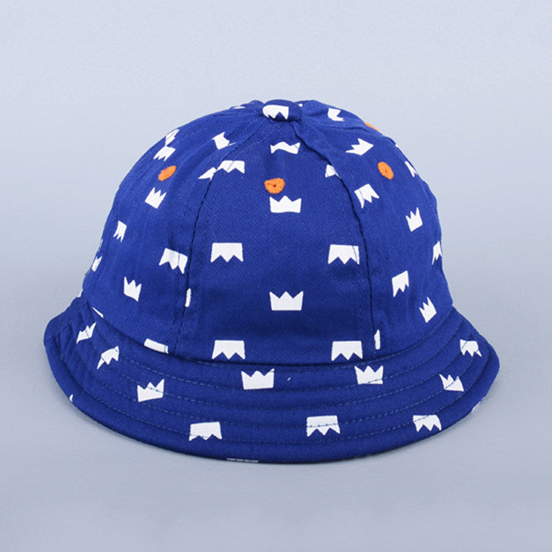 Blue Printed Hat