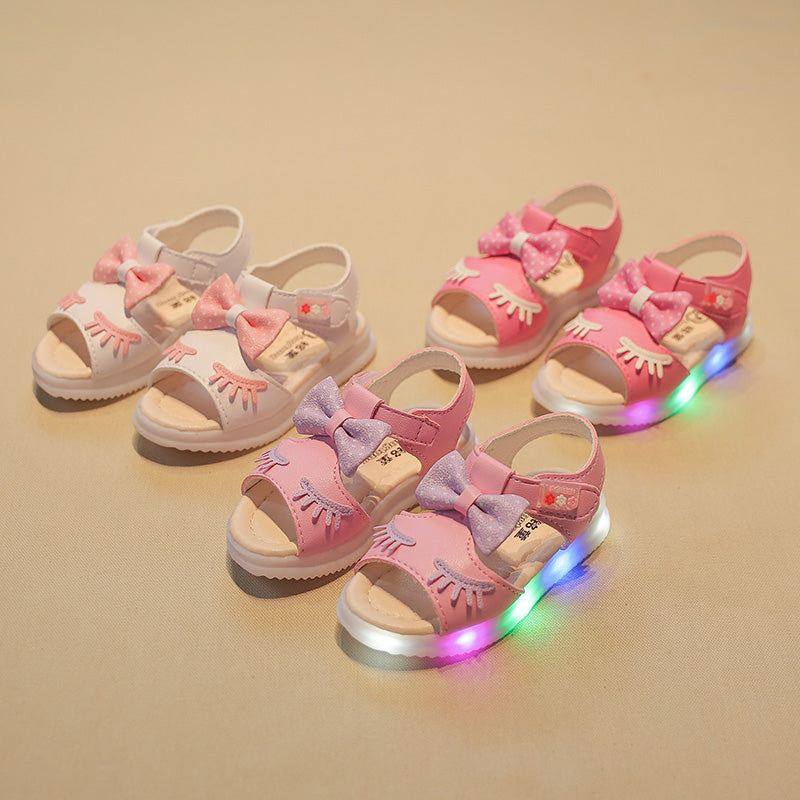 Bow LED Sandals For Girls