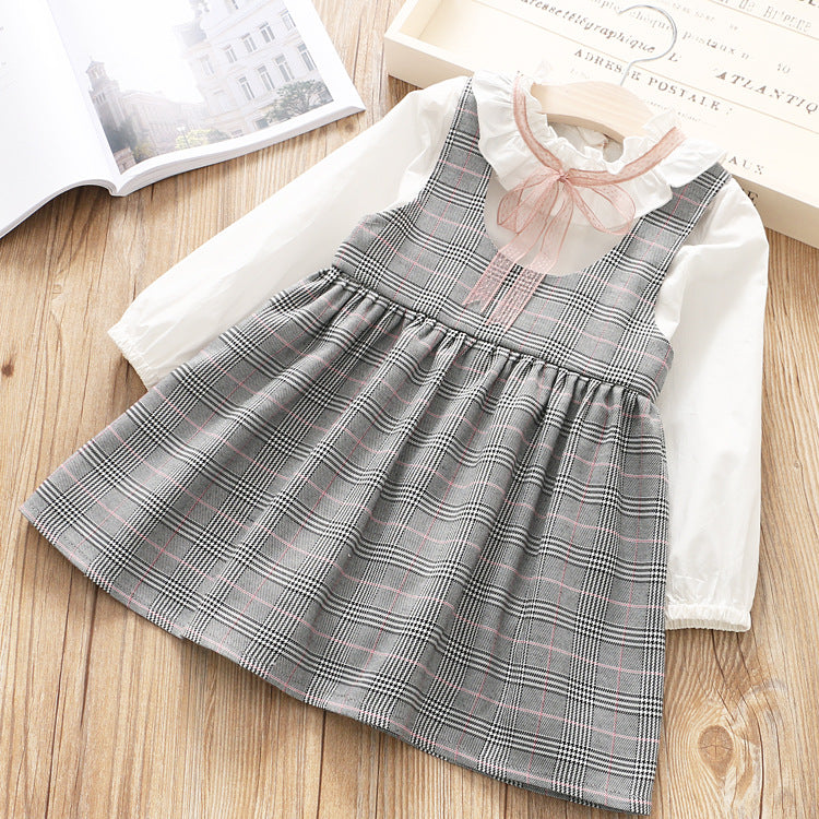 Checks Dress with T-shirt for Girls