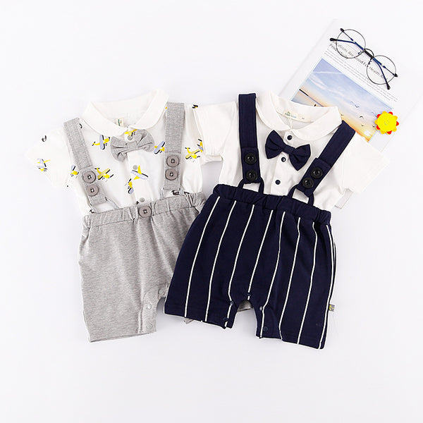 Cool Suspenders Summer Rompers
