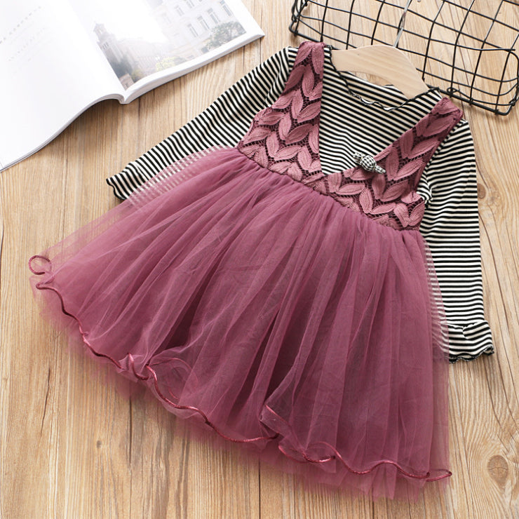 Leaf Dress with T-shirt for Girls