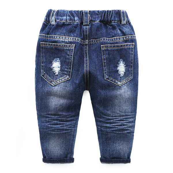 Solid Rugged Blue Denim