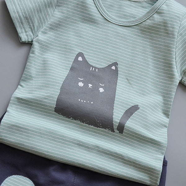 Cat Printed Summer Set
