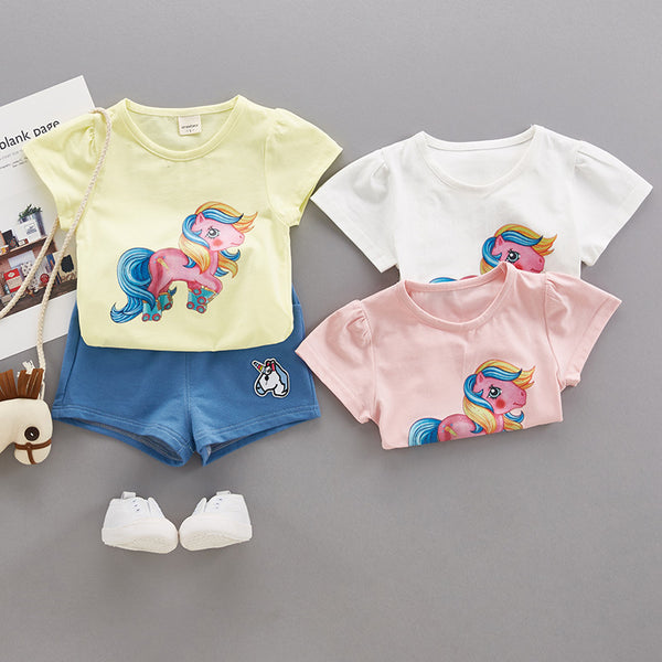 Unicorn Summer Set For Baby Girls