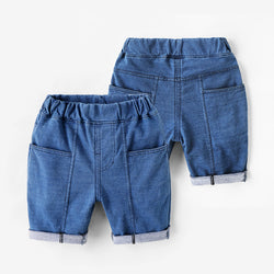 Square Pocket Denim Shorts