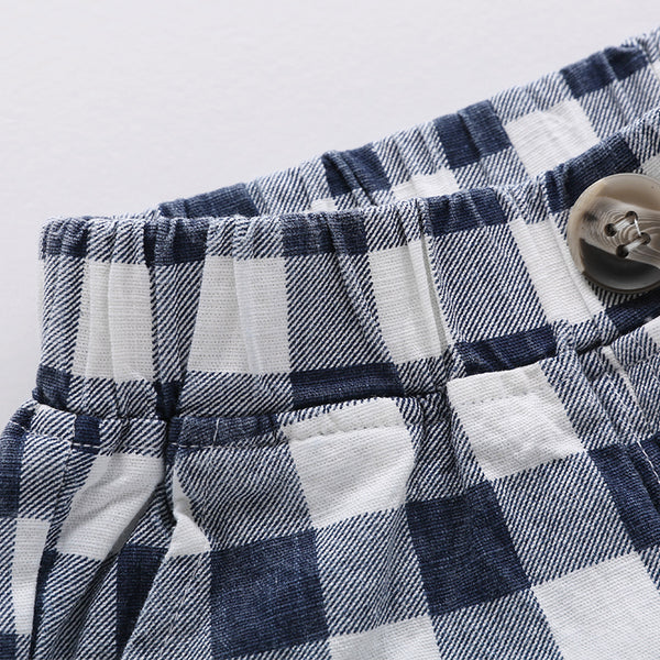 Blue Checks Summer Shorts