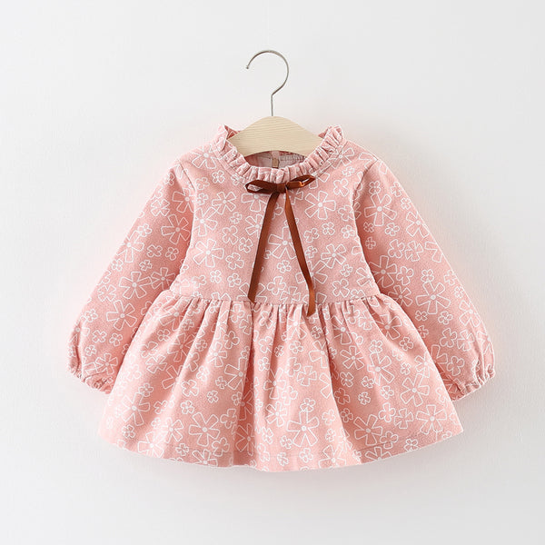 Flower Printed Baby Girl Dress