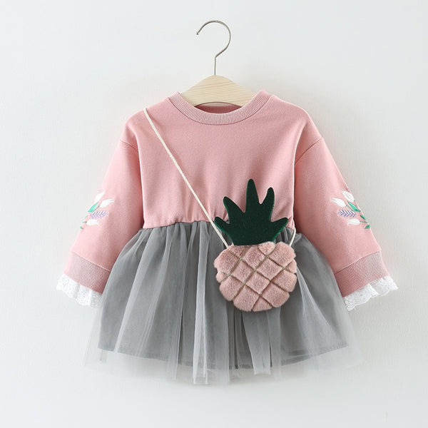 Pineapple Tutu Baby Girl Dress