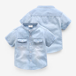 Half Sleeves Denim Shirt
