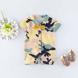 Camouflage Bow Romper